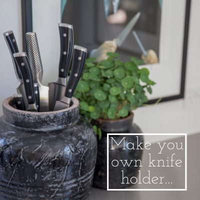 Make your own knife holder