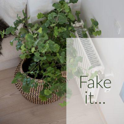 Faux plants.